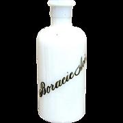 SALE Boracic Acid Apothecary Bottle