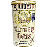 SALE Advertising Mothers Oats 3 lbs Container