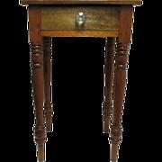 SALE Mahogany Single Drawer Table  American Circa 1860