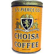 SALE Advertising CHOISA  Coffee Tin MINT