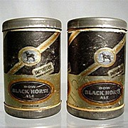 REDUCED Salt and Pepper Shakers Miniature Advertisers for Black Horse Ale