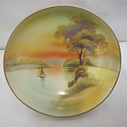 SALE Noritake Dish with hand painted Scene