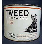 SALE Tweed Tobacco Tin featuring Scottie Dog