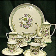 SALE Noritake Porcelain Demitasse Set  Complete with Tray