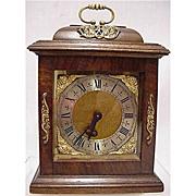 SALE Bracket Clock 15 Jewel for Desk, Table or Mantel