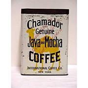 SALE Advertising Coffee Tin Chamador Java & Mocha Coffee One Pound