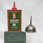 SALE Advertising Singer Sewing Machine Book Oil Cans And Needles