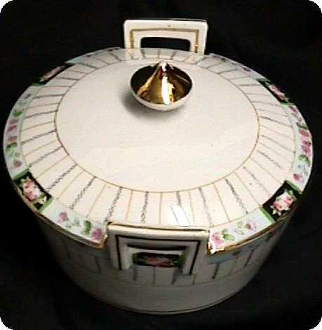 Butter Dish Nippon Porcelain Art Nouveau Set is Complete
