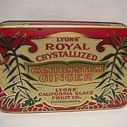 SALE Lyons Royal Canton Ginger Advertising Tin