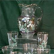 SALE Lemonade or Water Set Antique Victorian American Glass