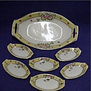 SALE Relish Set Master Dish and Six Servings Nippon Porcelain