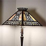 SALE Table Lamp Filigree Overlay Panel Lamp