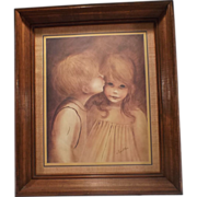 SOLD A Little Kiss - Framed Print by Margaret Kane