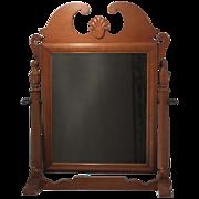 SALE Vintage American Shaving/Grooming Cherry Dresser Top Mirror