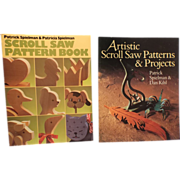 Scroll Saw Pattern Book  AND  Artistic Scroll Saw Patterns & Projects  (2 books)-Woodworking