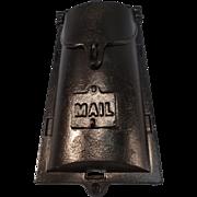 SALE Vintage Cast Iron Mailbox
