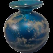 SALE Smoke Blue Bud Vase signed Melina