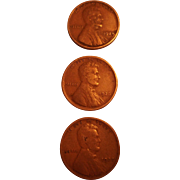 SALE Lincoln Wheat Pennies - 1924, 1926. 1927