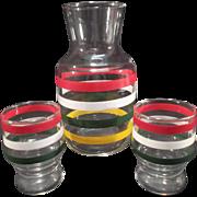 SALE Art Deco Striped Juice Jug & glasses