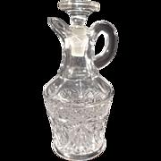 SALE Vintage Pressed Glass Vinegar/Oil Cruet