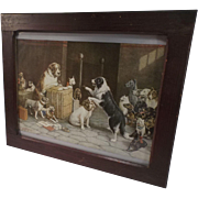 "SALE Vintage Dog Print ""Breach of Promise Suit"" By: Cassius Marcellus Coolidge"