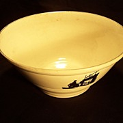 SALE Harker Pottery Silhouette pattern Mixing Bowl--11 Inch--Kitchenware