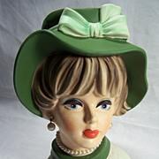 Napcoware lady Headvase-- C7496--8 1/2 inches