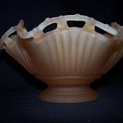 Westmoreland Peach colored Satin Glass Bowl