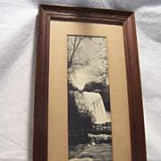 Framed Postcard Print of Minnehaha Falls, Minn