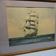 SALE Donald Mackay -Clipper Ship-  Print by Artist Gerald M. Burn
