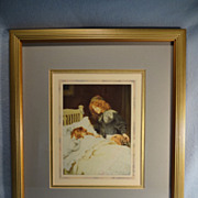 """SALE """"Wake Up, It's Christmas Morning"""" full color print by Arthur J. Elsley"""