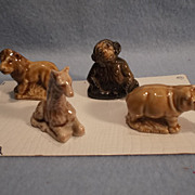 Set of 4 Wade England Whimsies, 1973