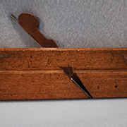 SOLD MUTTER  Wooden Round Bottom Moulding Plane,British, 1766-1799-Woodworking Tool