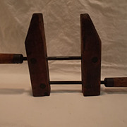 Vintage Wood Clamp, Woodworking Tool