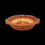 Mason's Vista Pink Red Transferware Two Handle Soup Bowl