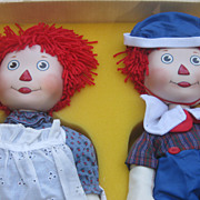 Raggedy Ann and Andy  Porcelain  Dolls