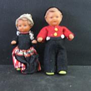 Vintage  Rubber  Dutch Dolls