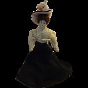 Miniature Gibson Girl Doll