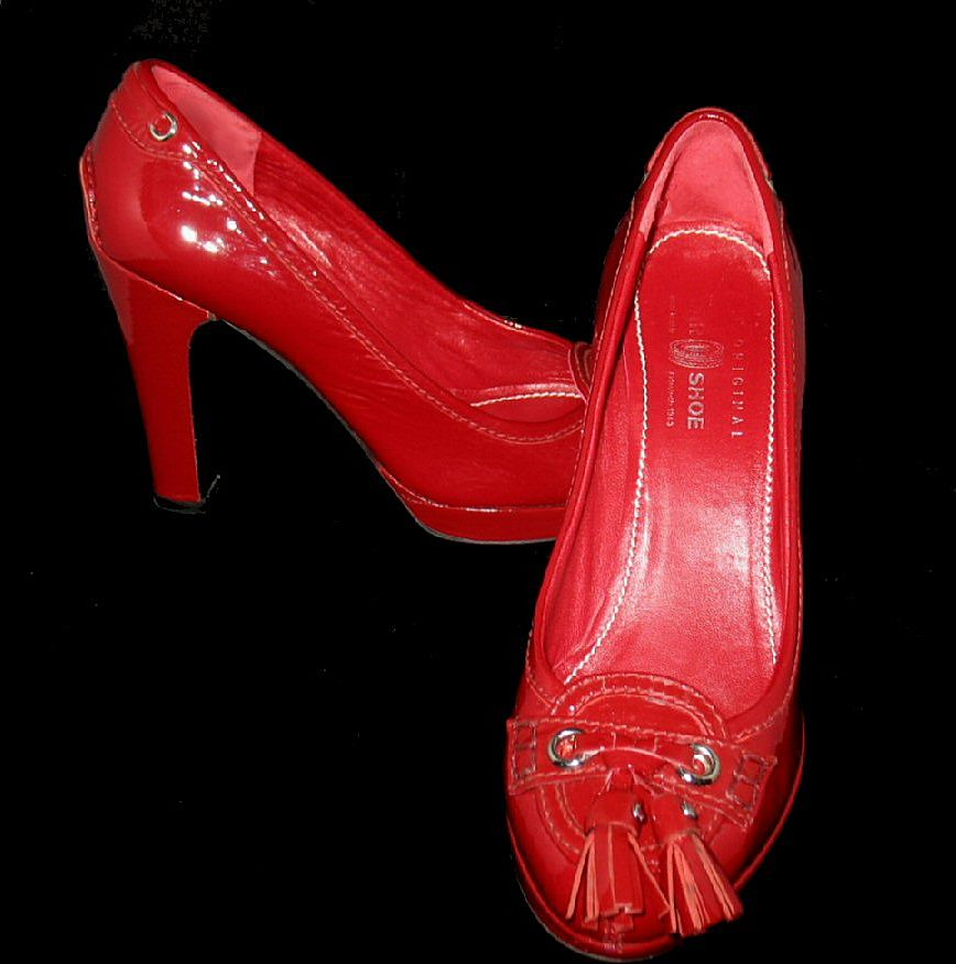 The Original Car Shoe ~ Red Patent Leather ~ Italy