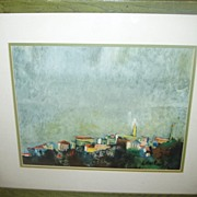 """Vintage UT University of Texas Framed Print """"Morning Silhouette"""""""