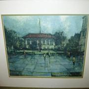 "Vintage UT University of Texas Framed Print ""Old Library"""