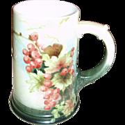 SALE Signed Antique American Belleek Mug Stein Currants