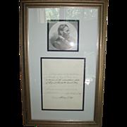 1871 Ulysses S. Grant signed Presidential Pardon