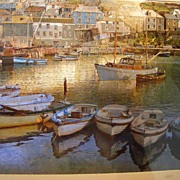 SALE Vintage Photo - Early 1960's European Scene Harbor with Boats