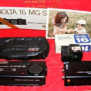Vintage Spy Camera Minolta 16 MG-S from Secret Service - NEW OLD STOCK!!