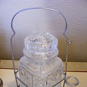 Vintage Ink Glass Bottle with Stand