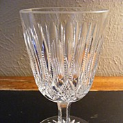 Superb Hand Cut Lead Crystal Water or Wine Glass