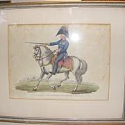 SALE 1815 John Romney Print Field Marshal Von Blucher Prince of Wagstadt