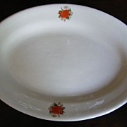 Vintage Bees Diner Ware Heavy China Oval Plate
