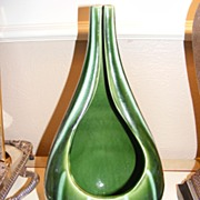 Hull 57 Continental Evergreen Open Front Vase